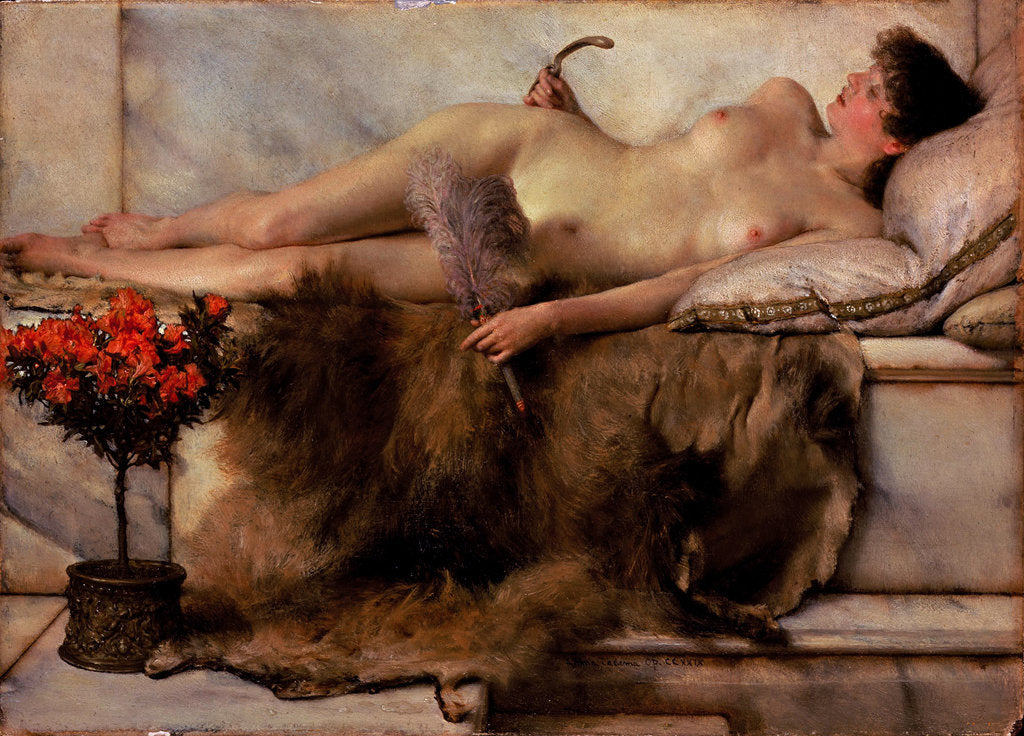 Detail of In the Tepidarium by Sir Lawrence Alma-Tadema