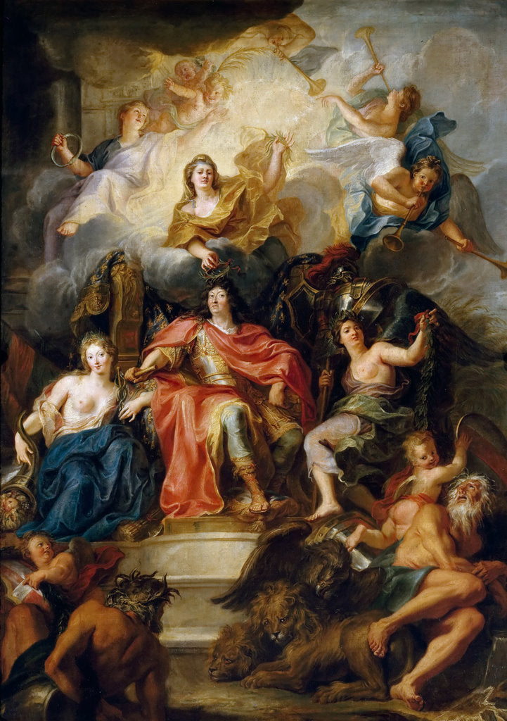 Detail of The glorification of Louis XIV by Antoine Coypel