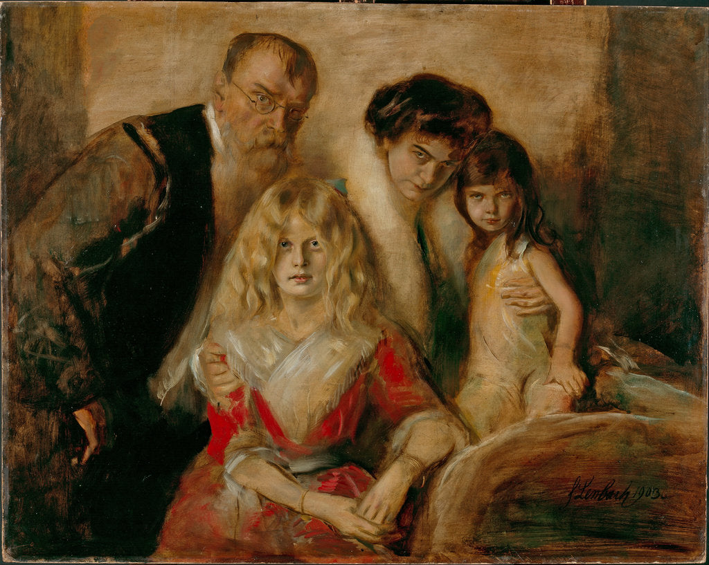 Detail of The Artist with his Wife and Children by Franz von Lenbach