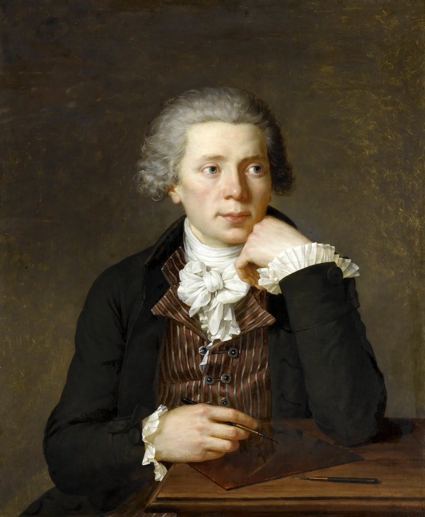 Detail of Portrait of Jacques Joseph Coiny by Baron François-Xavier Pascal Fabre
