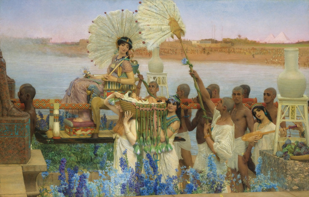 Detail of The Finding of Moses by Sir Lawrence Alma-Tadema