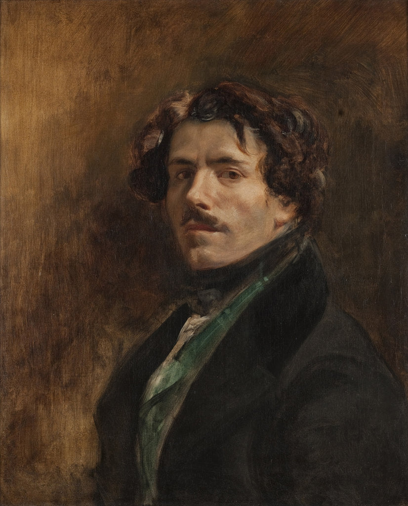 Detail of Self-Portrait by Eugène Delacroix