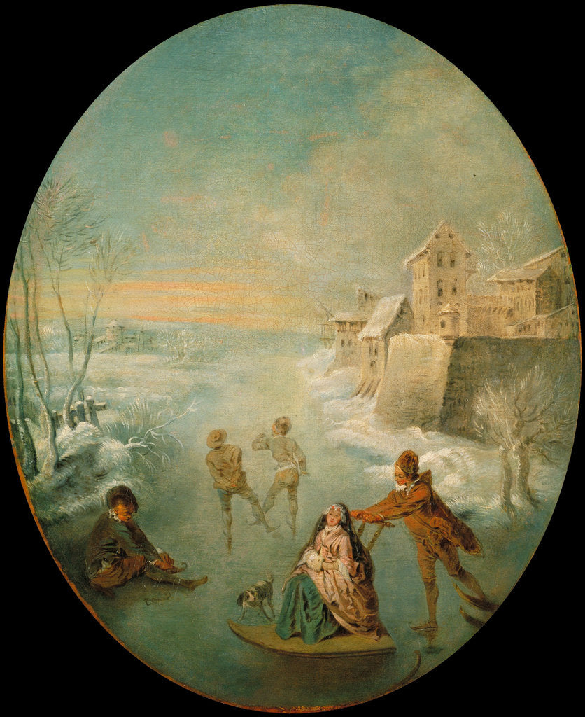 Detail of Winter by Jean-Baptiste Pater