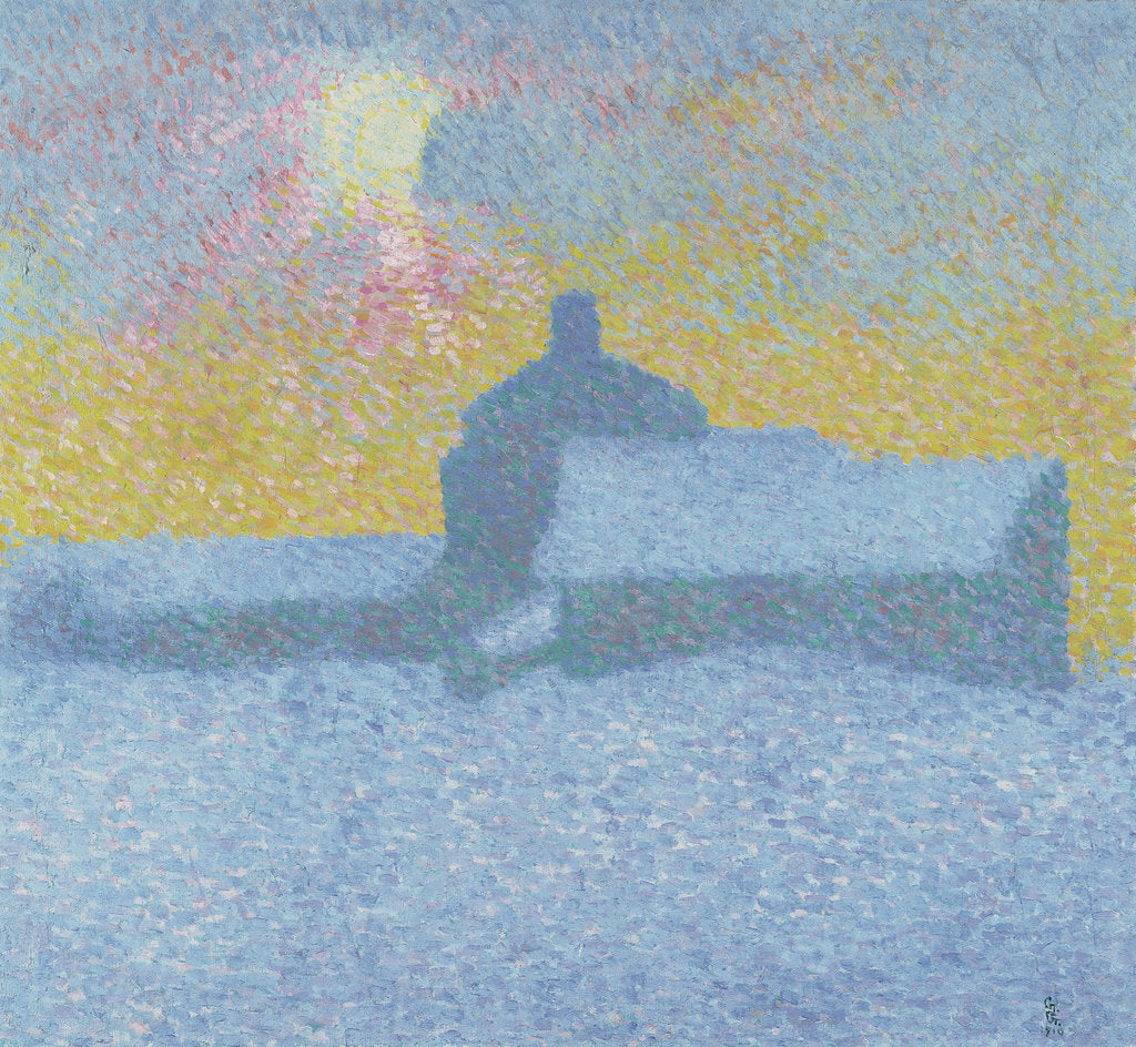 Detail of Winter Fog (Winter in Maloja) by Giovanni Giacometti