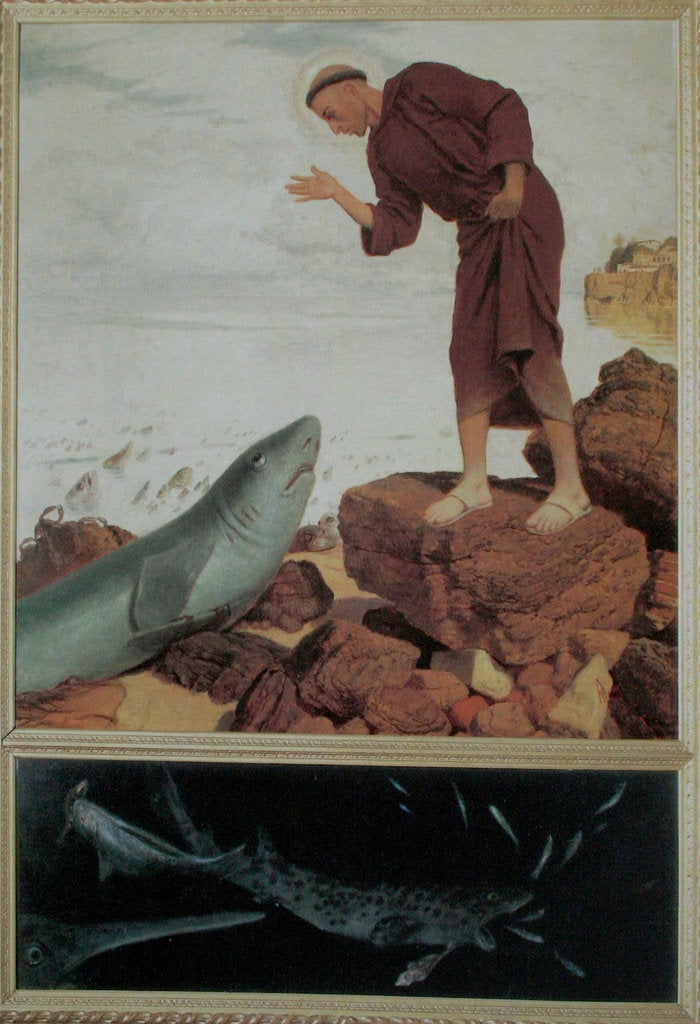 Detail of Saint Anthony Preaching to the Fish by Arnold Böcklin