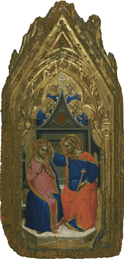 Detail of The Coronation of the Virgin with four Angels by Giovanni da Bologna
