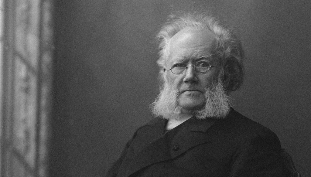 Detail of Portrait of Henrik Ibsen by Anonymous