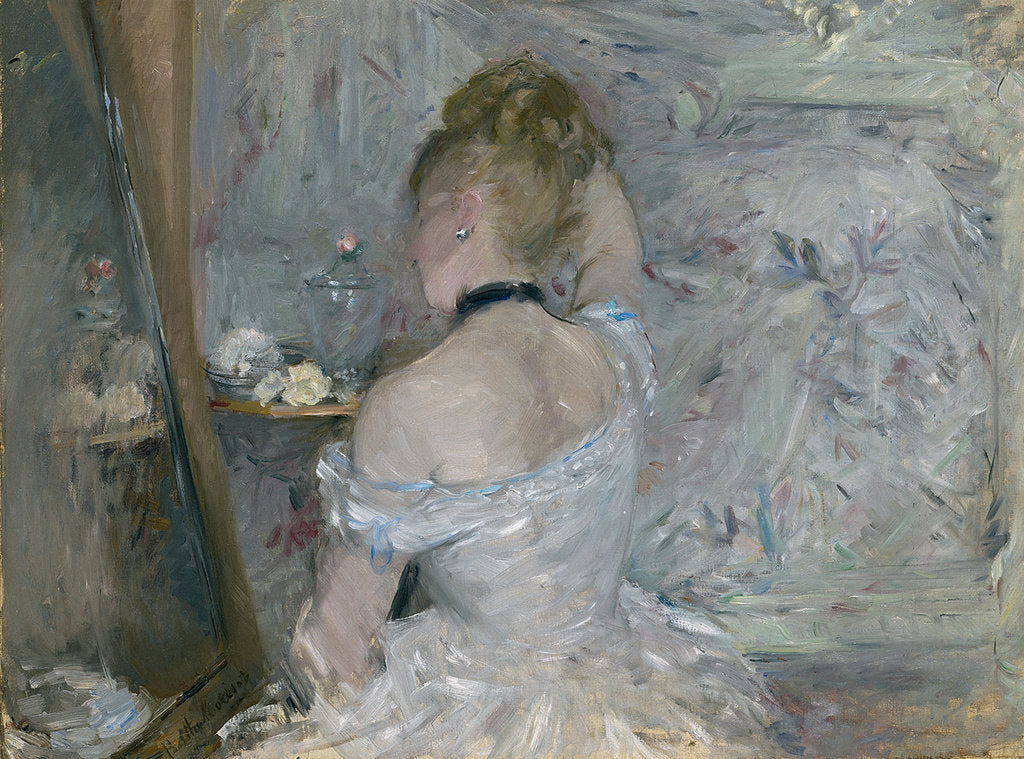 Detail of Woman at Her Toilette, 1875-1880 by Berthe Morisot