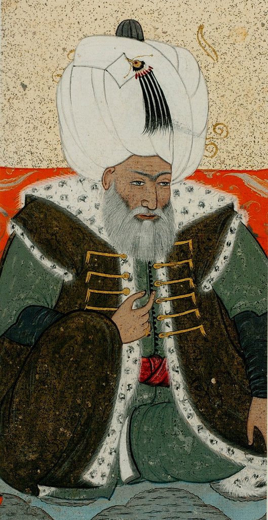 Detail of Bayezid II, Sultan of the Ottoman Empire, c. 1710 by Abdulcelil Levni