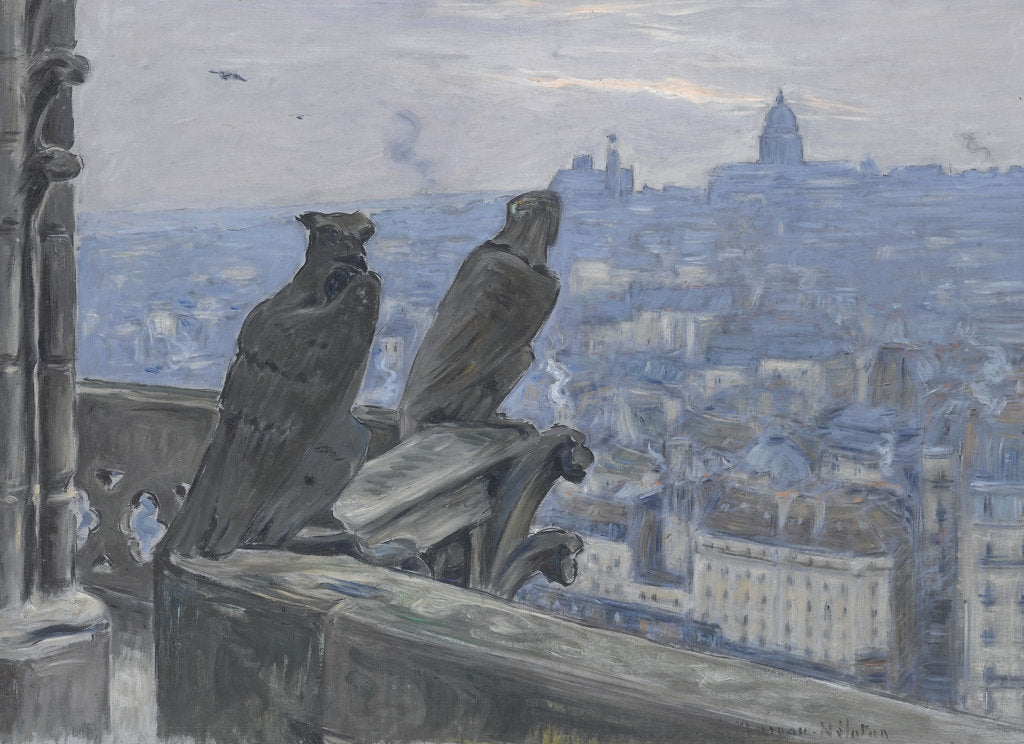 Detail of Paris as seen from the towers of Notre Dame, c. 1900 by Adolphe Étienne Auguste Moreau-Nélaton