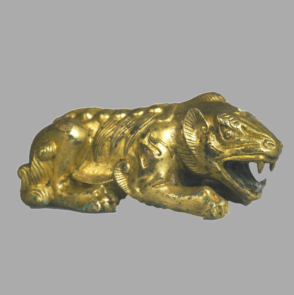 Detail of Lion Statuette, 9th century BC by Scythian Art