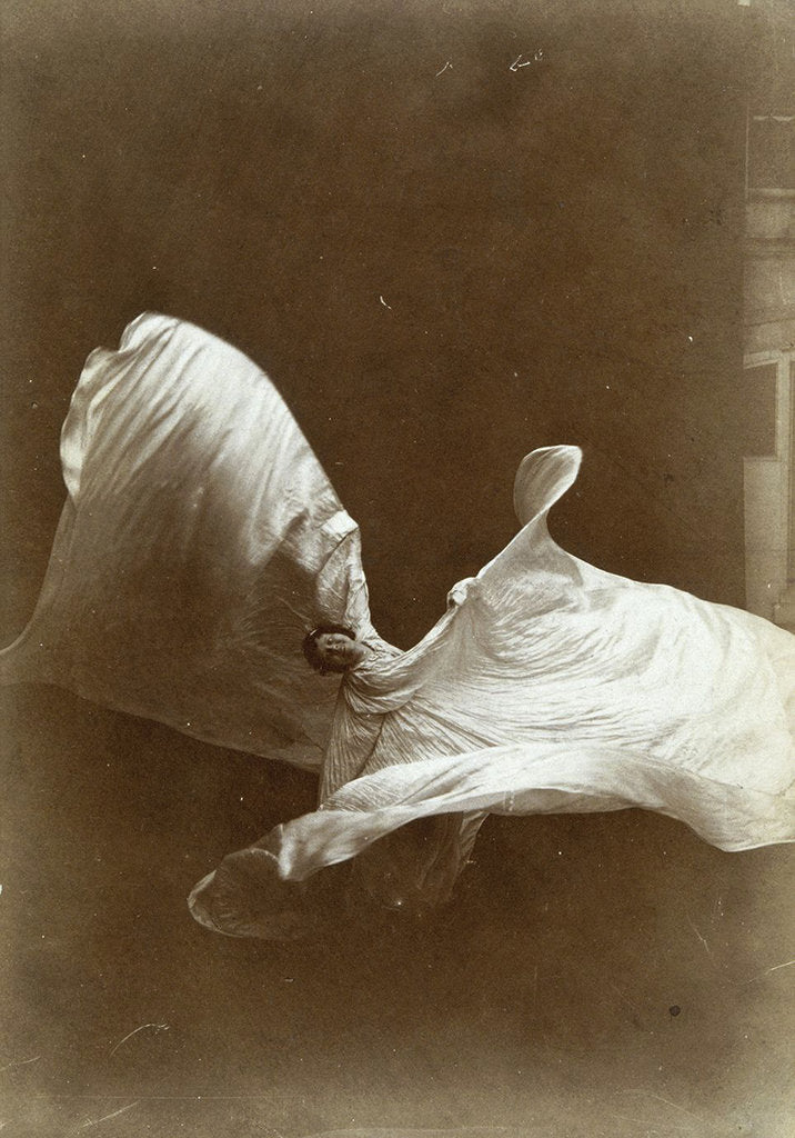 Detail of Loie Fuller in La danse Blanche, 1897 by Isaiah West Taber