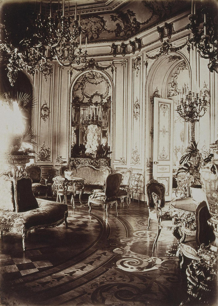 Detail of The Stroganov palace in Saint Petersburg. Oval Living Room, 1860s by Giovanni Bianchi