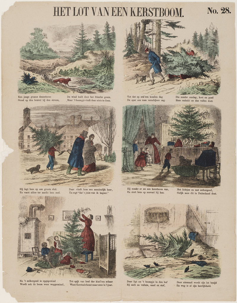 Detail of The Story of a Christmas tree, Second Half of the 19th century by Anonymous