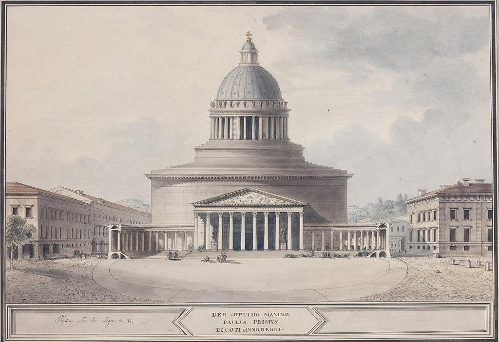 Detail of Facade of the Kazan Cathedral in Saint Petersburg, 1800 by Jean François Thomas de Thomon