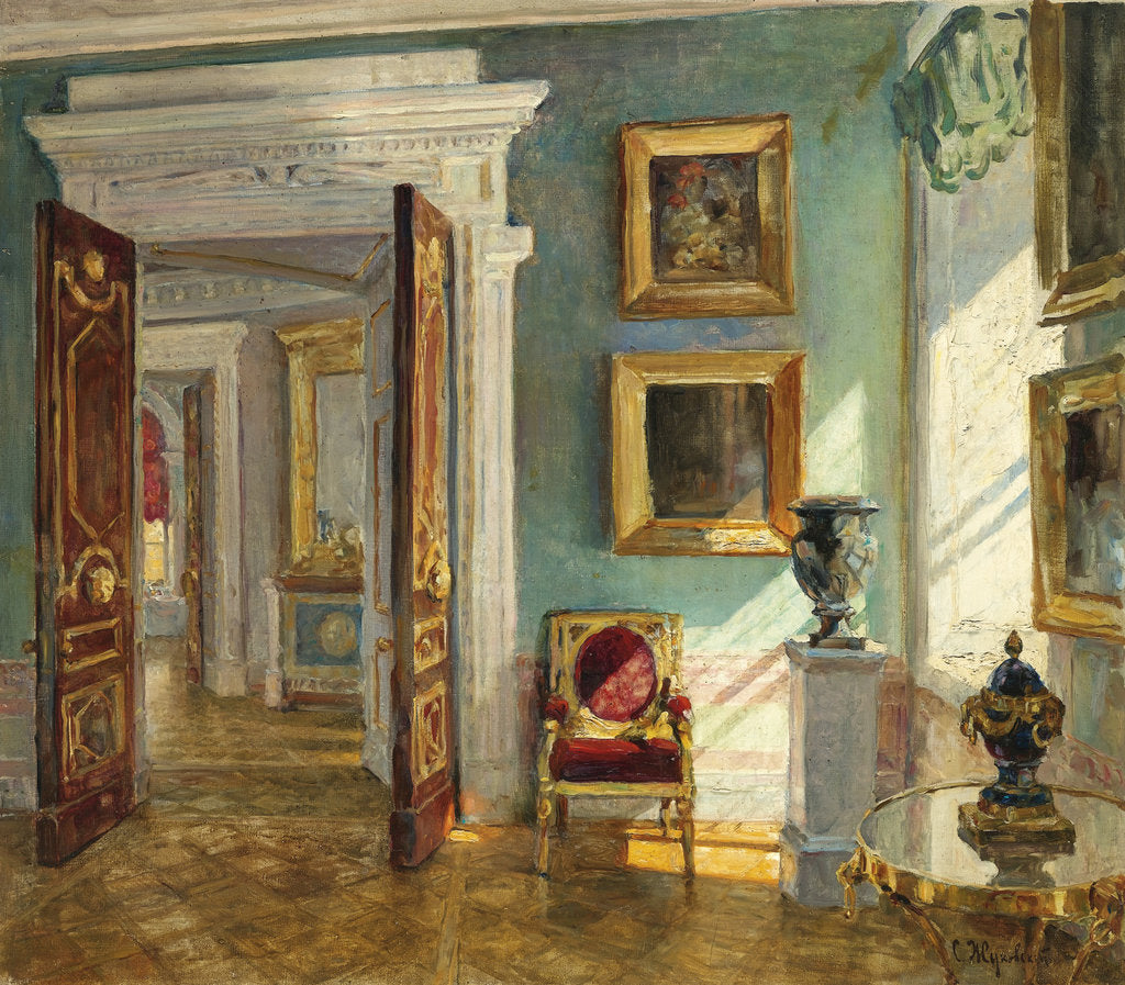 Detail of Interior of the Picture Gallery, Pavlovsk by Stanislav Yulianovich Zhukovsky