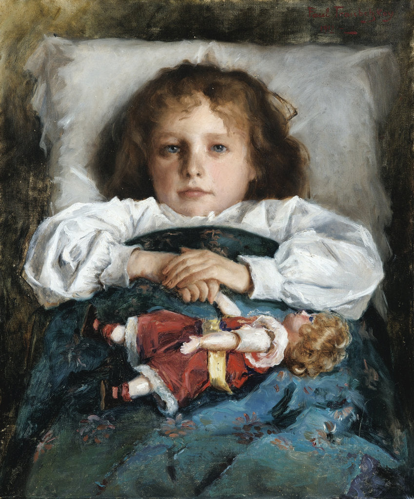 Detail of Child with a Doll, 1912 by Prince Pavel Petrovich Trubetskoy