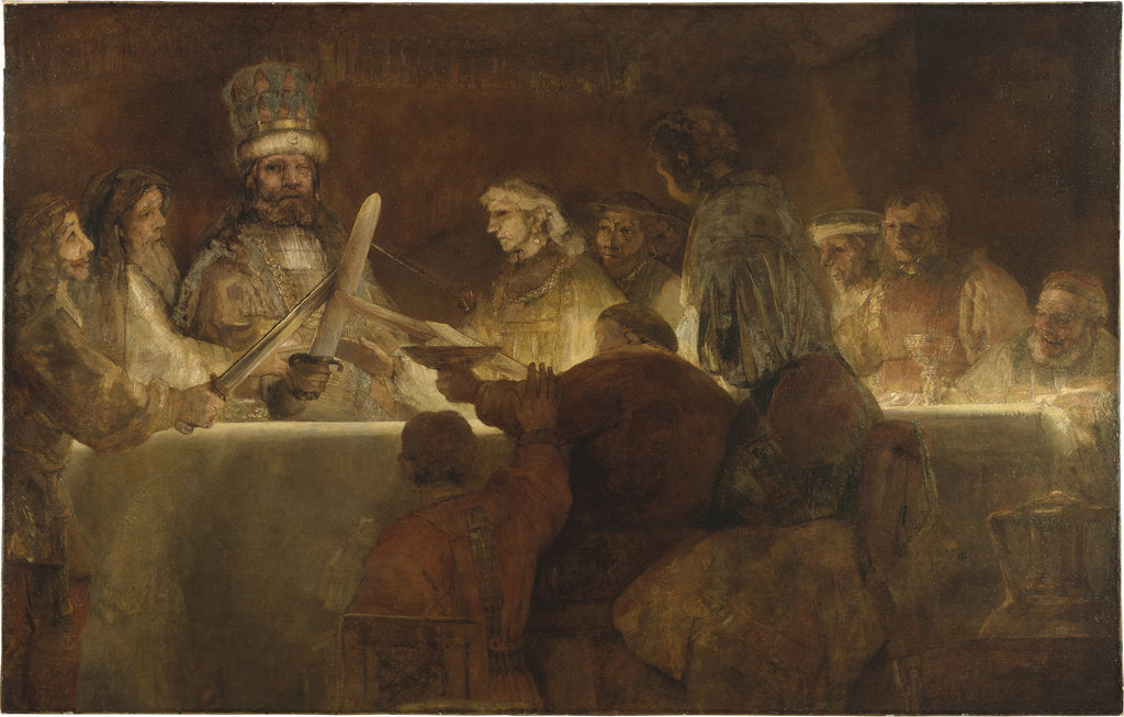 Detail of The Conspiracy of the Batavians under Claudius Civilis, 1662 by Rembrandt van Rhijn