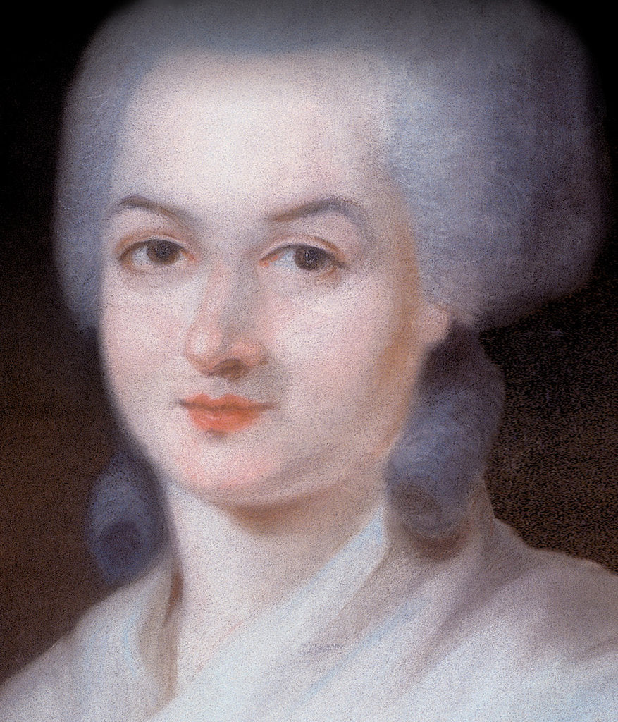 Detail of Portrait of Olympe de Gouges (Detail), Late 18th century by Alexandre Kucharski