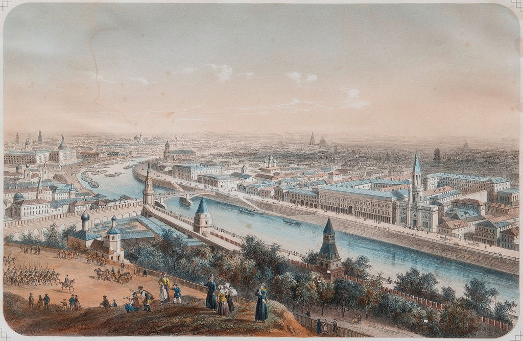 Detail of Panoramic view of Moscow, 1820s by Isidore Laurent Deroy