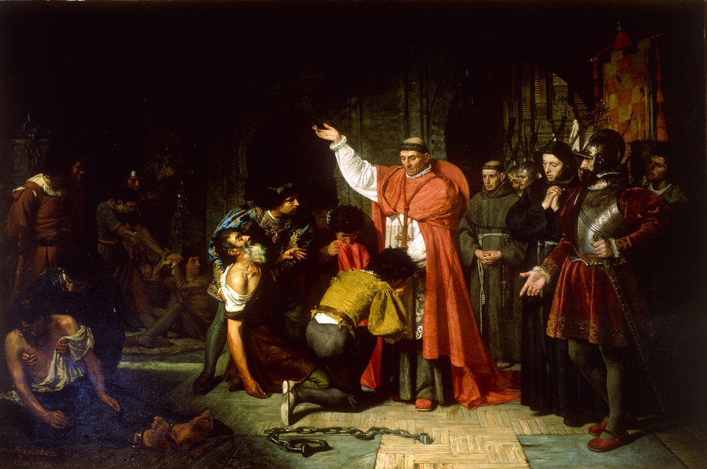 The liberation of Christian prisoners of Oran by Cardinal Cisneros, 1869 by Francisco Jover y Casanova