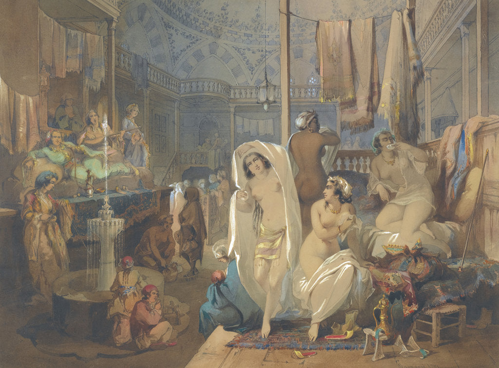 Detail of In the Hammam, 1854 by Amedeo Preziosi
