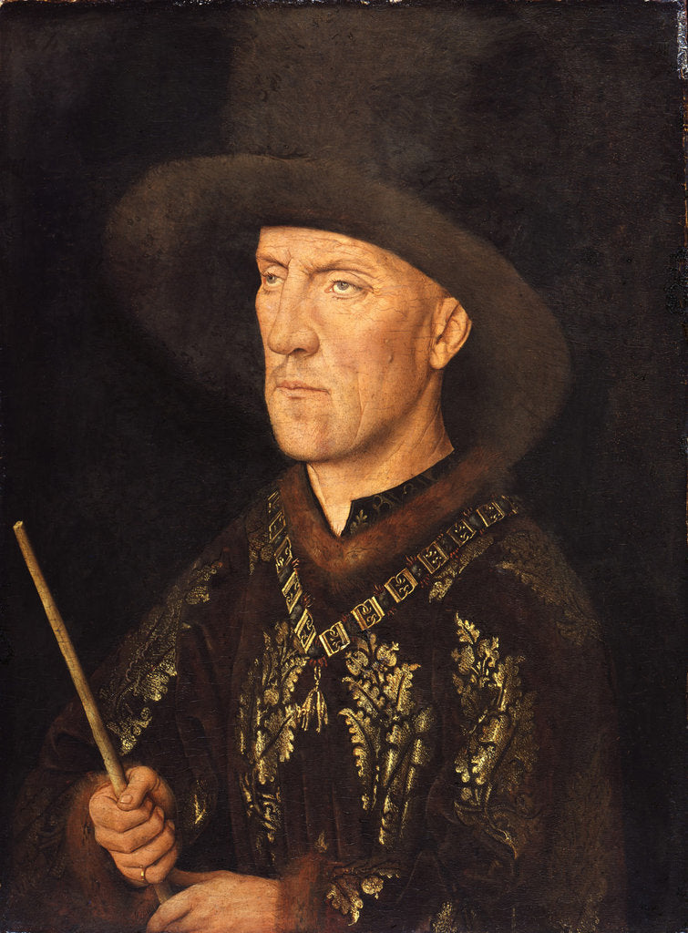 Detail of Portrait of Baudouin de Lannoy, ca 1435 by Jan van Eyck
