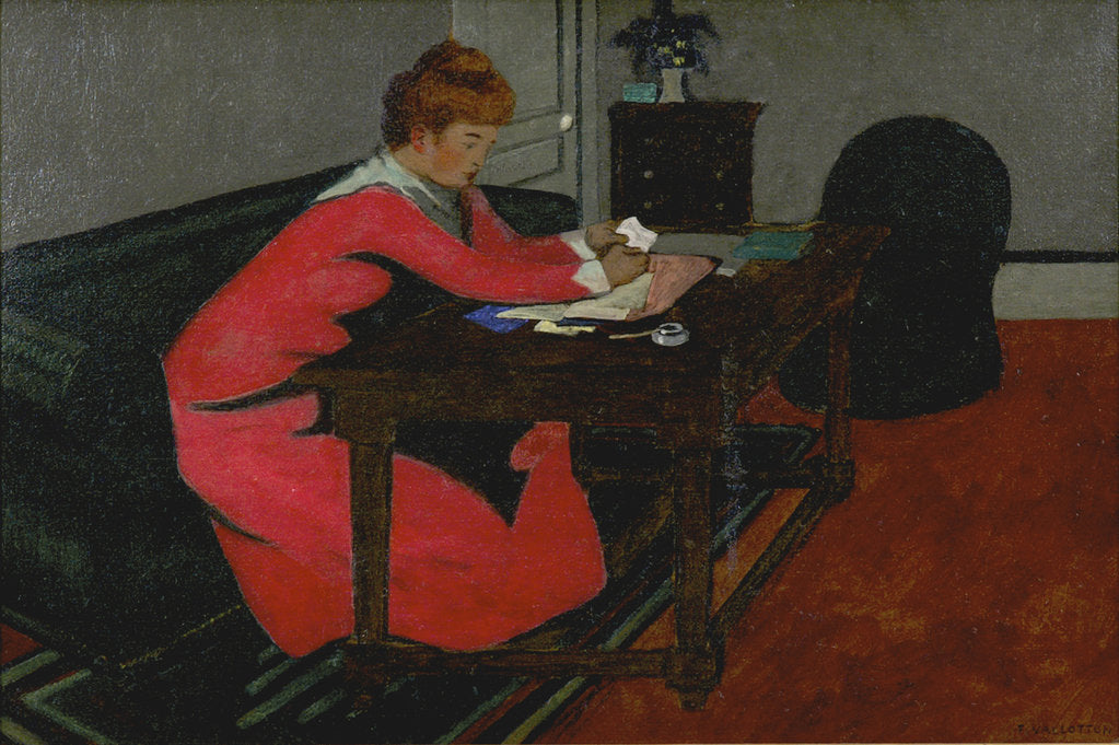 Detail of Misia at her desk, 1897 by Felix Edouard Vallotton