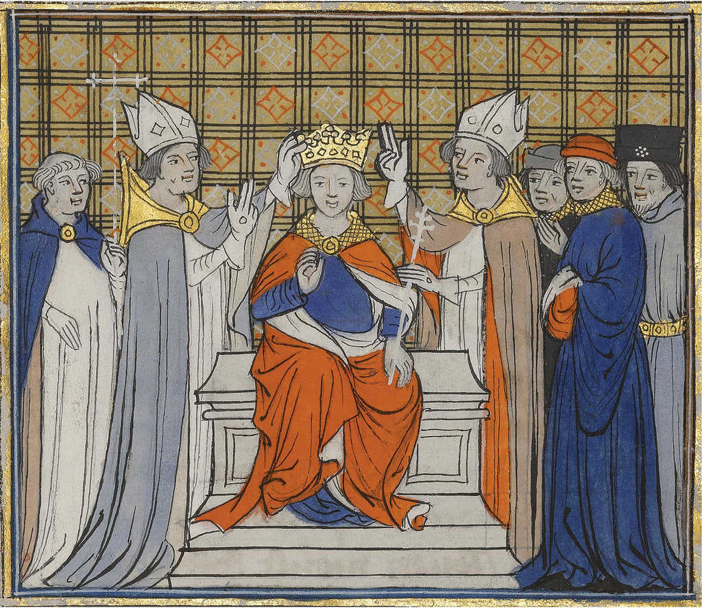 Detail of The Anointing and Coronation of Louis IV at Laon, 19 June 936 by Anonymous