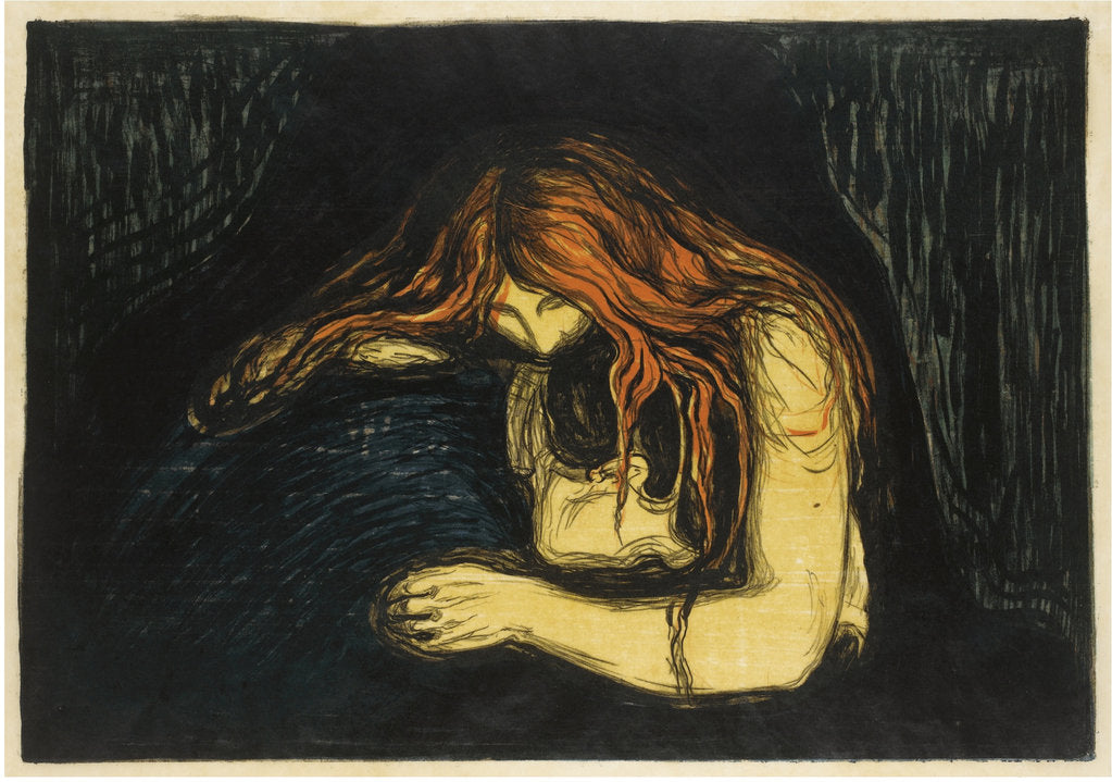 Detail of The Vampire II, 1895-1900 by Edvard Munch