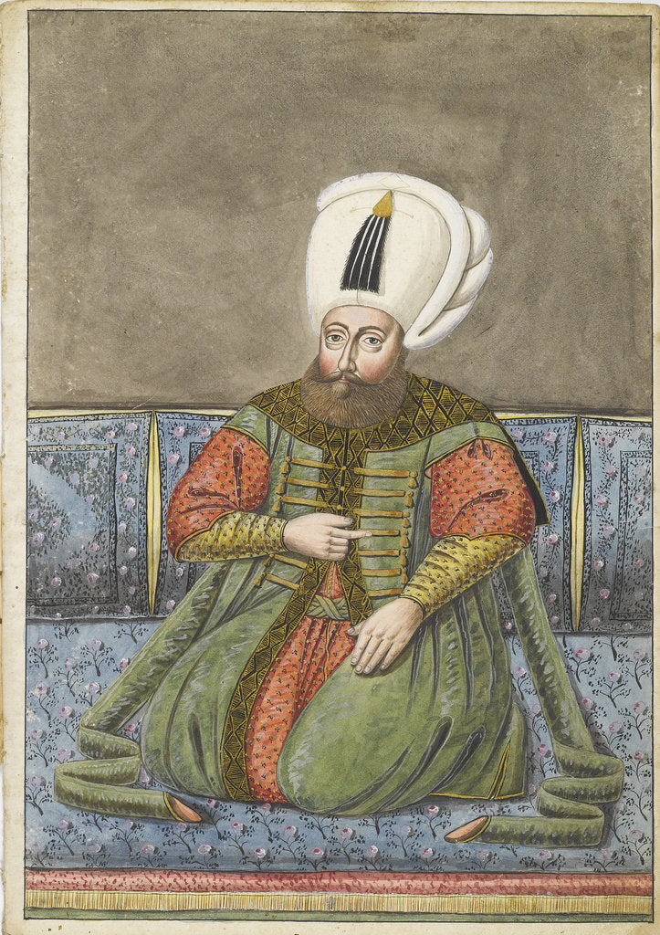 Detail of The Sultan Osman I, Early 19th century by Anonymous