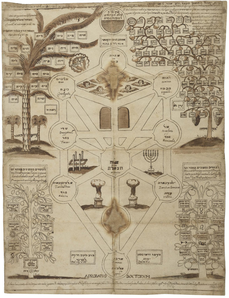 Detail of Arbor Cabalistica (Kabbalistic Tree), ca 1625 by Anonymous