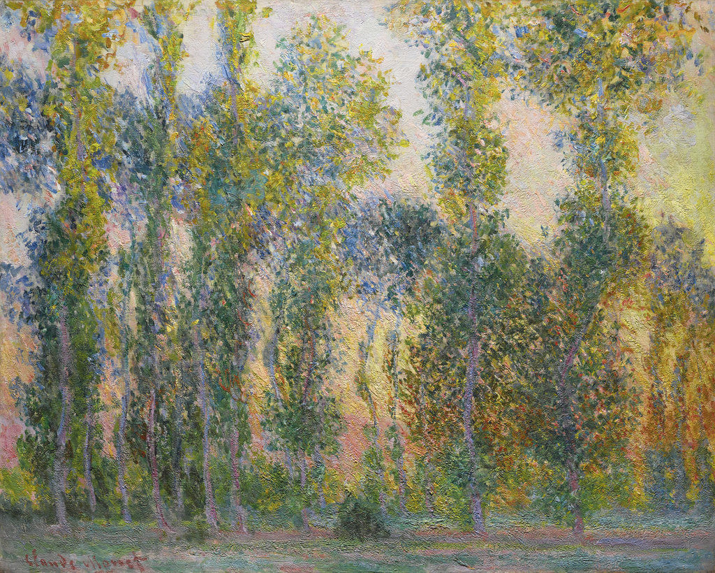 Detail of Poplars at Giverny, 1887 by Claude Monet