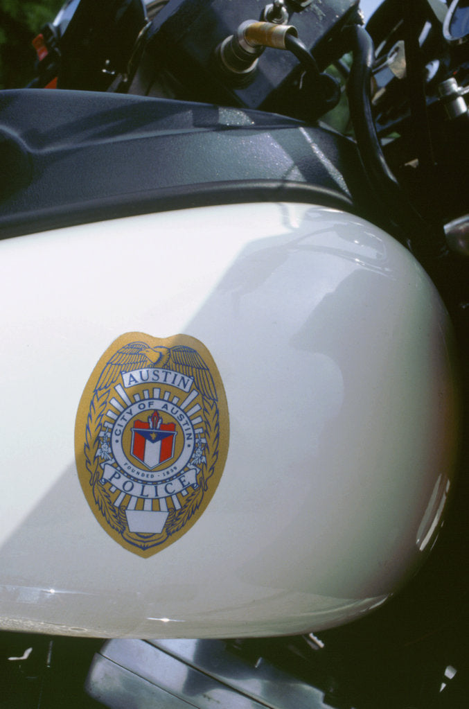 Detail of City of Austin,Texas Police bike logo by Unknown