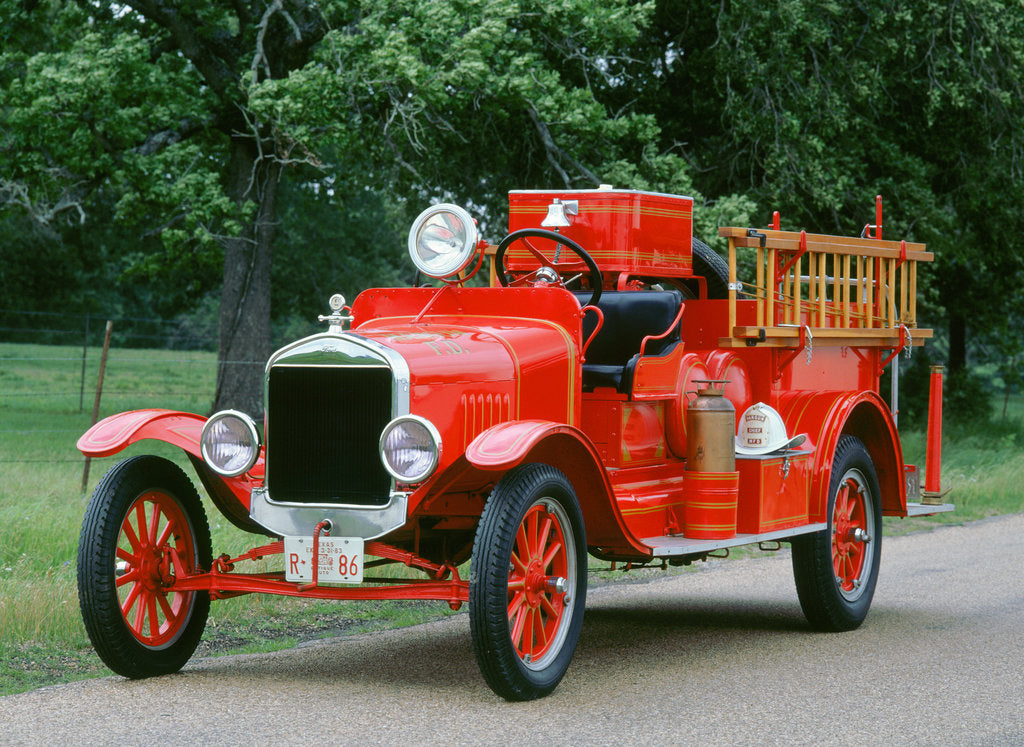 Detail of 1927 Ford TT Fire engine by Unknown