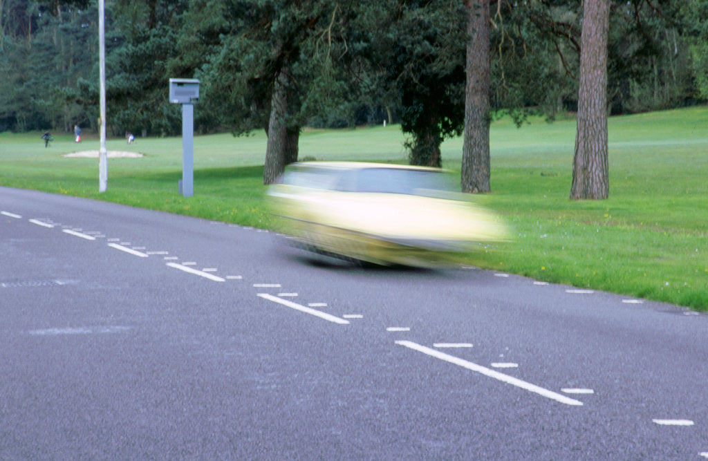 Detail of Speed Camera and road markings by Unknown