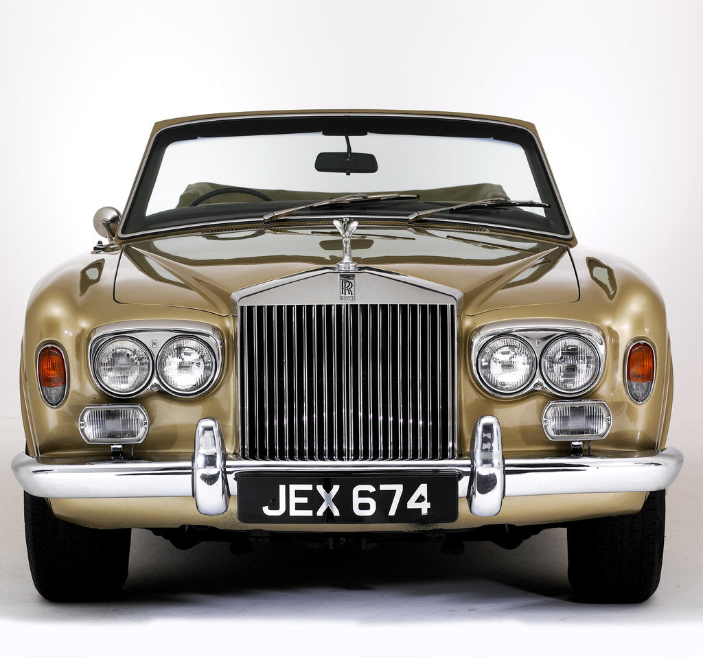 Detail of 1975 Rolls Royce Corniche convertible by Unknown
