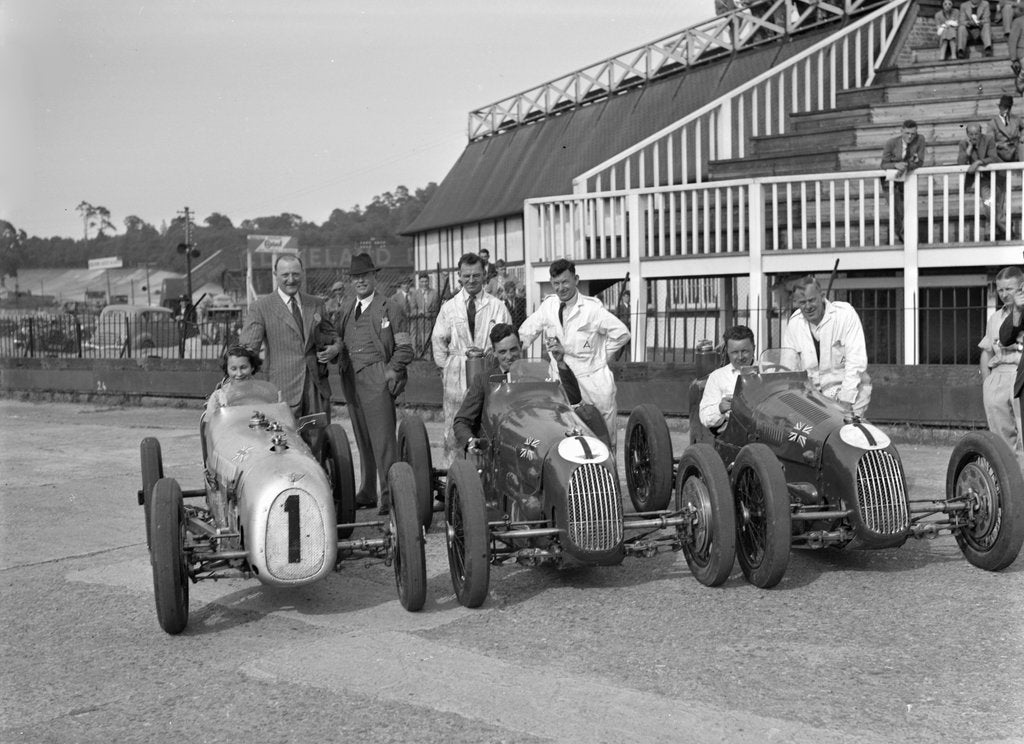 Detail of Austin 7 works team, Brooklands 1937 by Bill Brunell
