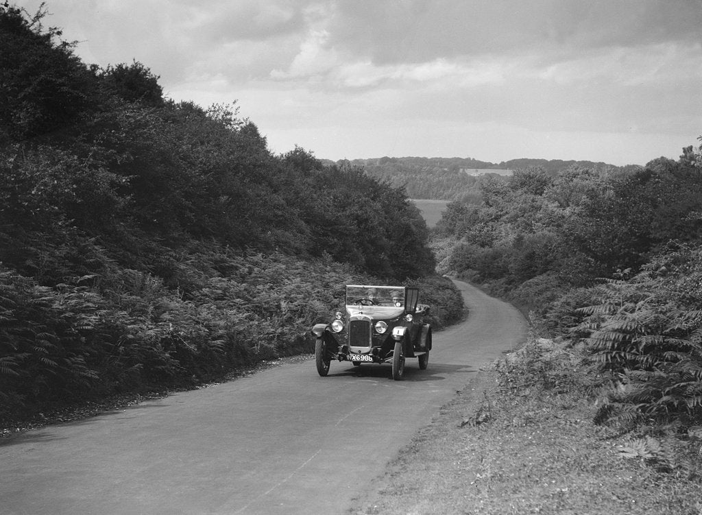 Detail of Austin 12/4 taking part in a First Aid Nursing Yeomanry trial or rally, 1931 by Bill Brunell