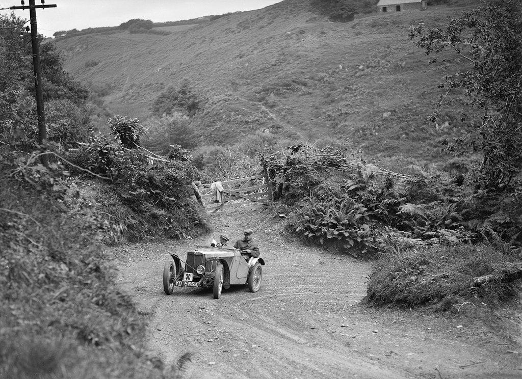 Detail of 1933 MG J2 taking part in a motoring trial, late 1930s by Bill Brunell