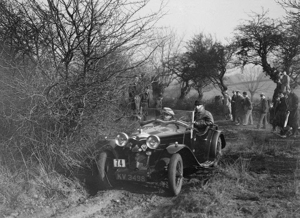 Detail of Riley of G Clifton at the Sunbac Colmore Trial, near Winchcombe, Gloucestershire, 1934 by Bill Brunell