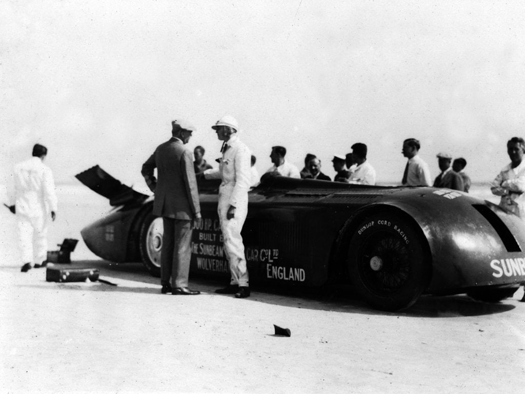 Detail of Sunbeam 1000hp World Land speed record attempt at Daytona 1927 by Unknown