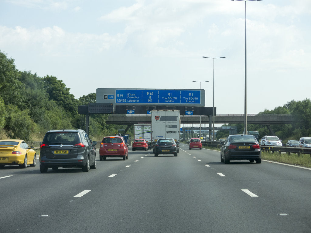 Detail of Traffic on the M6 Motorway 2014 by Unknown