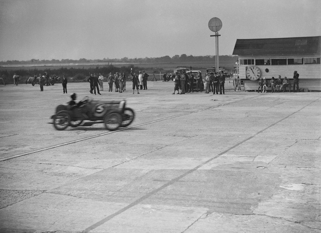Detail of Bugatti of JR Jefferys competing at a Surbiton Motor Club race meeting, Brooklands, Surrey, 1928 by Bill Brunell