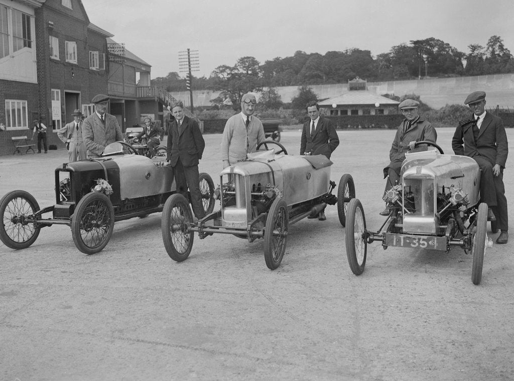 Detail of Cars at the JCC 200-mile Race, Brooklands, Surrey, 1921. by Bill Brunell