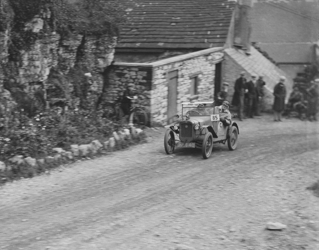 Detail of Austin 7 of GHR Chaplin competing in the MCC Sporting Trial, Litton Slack, Derbyshire, 1930 by Bill Brunell