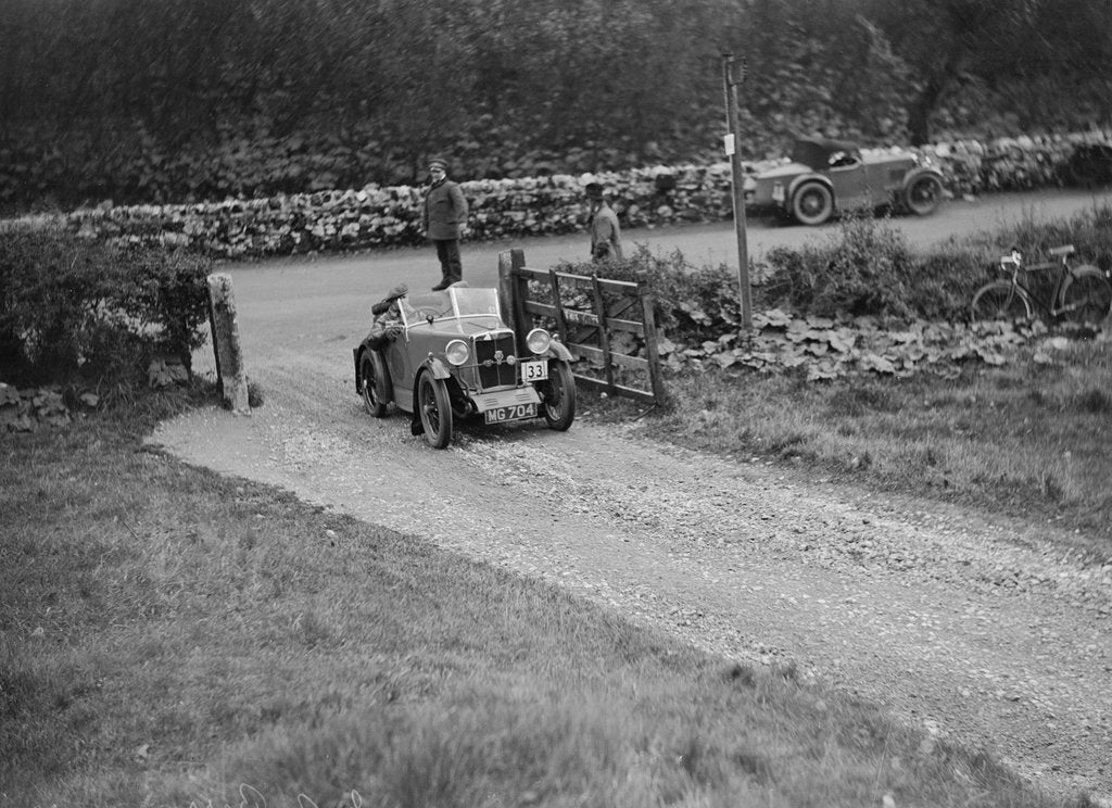 Detail of MG M type of JA Berry competing in the MCC Sporting Trial, 1930 by Bill Brunell