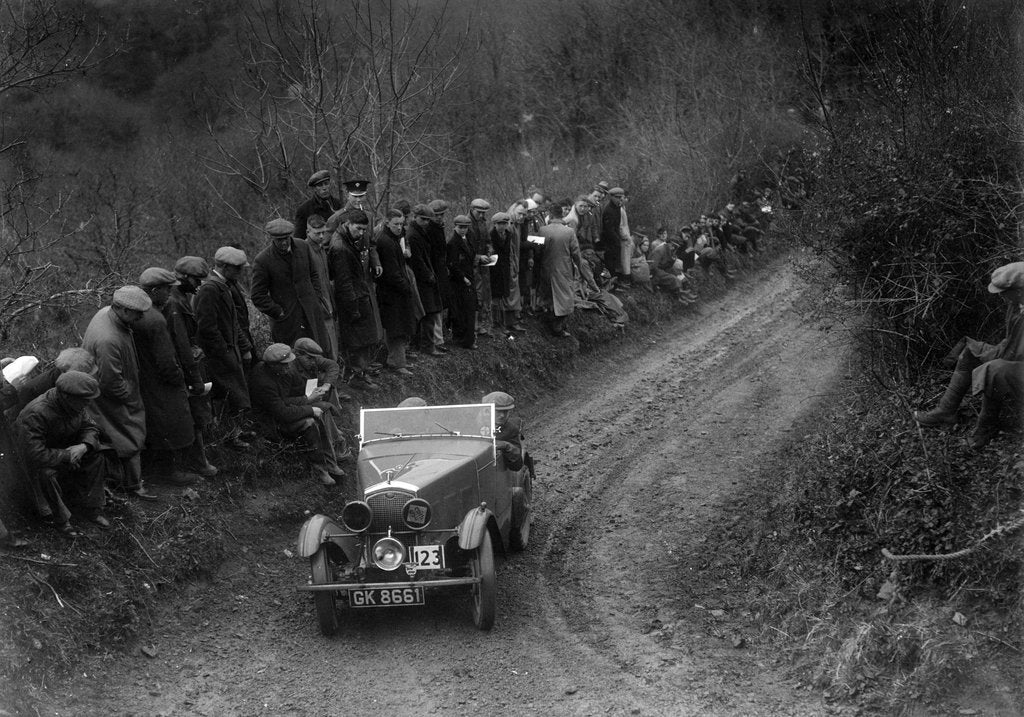 Detail of Wolseley Hornet of WR Hancock competing in the MCC Lands End Trial, 1935 by Bill Brunell