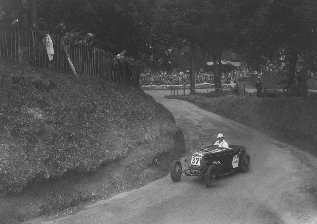 Detail of Frazer-Nash competing in the Shelsley Walsh Hillclimb, Worcestershire, 1935 by Bill Brunell