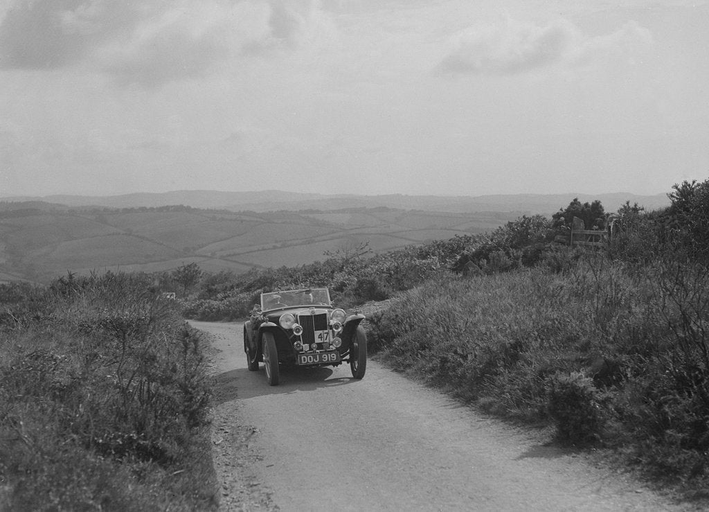 Detail of MG TA of JL Lutwyche competing in the MCC Torquay Rally, 1938 by Bill Brunell